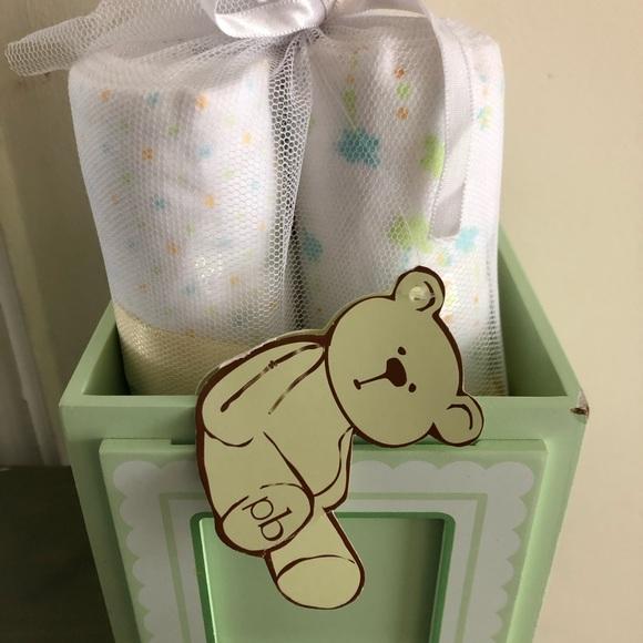 NWT Receiving Baby Blankets with decorative box